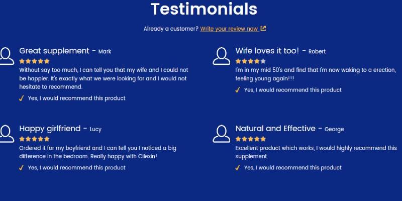 Cilexin Customer Reviews