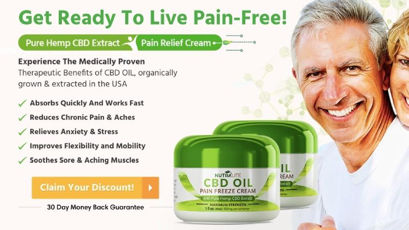 Nutralite CBD Pain Freeze Cream